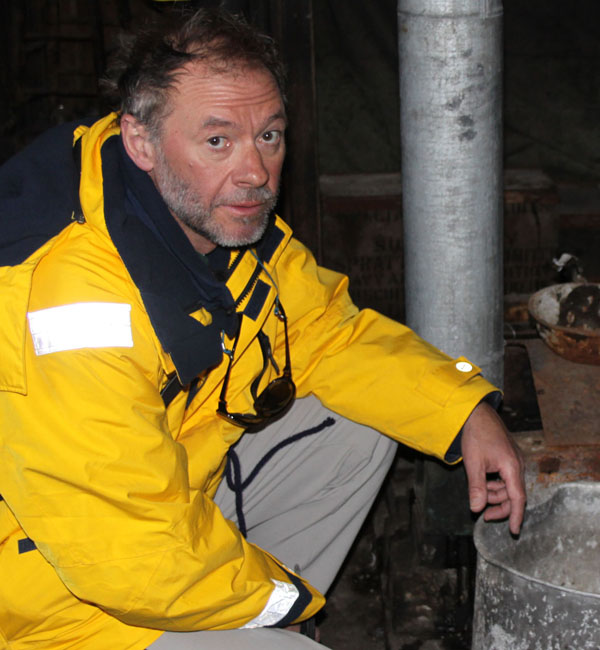 Still of Adrian Raeside in the documentary Return to Antarctica
